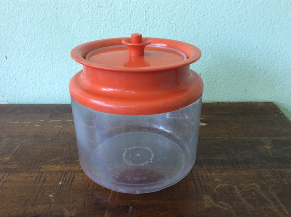 orange storage jars kitchen orange tupperware counterparts kitchen storage canisters 3766