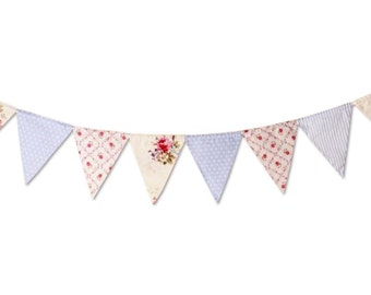 NEW Shabby Floral Bunting
