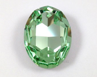 4127 CHRYSOLITE 30x22mm Swarovski Crystal Oval Fancy Stone, Light Green