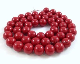 6mm RED CORAL 5810 Swarovski Crystal Pearls 50pcs or 100pcs