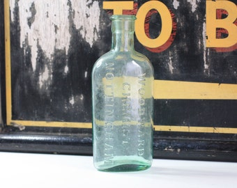 Antique Bottle Woodward's Chemist Nottingham Clear Bottle