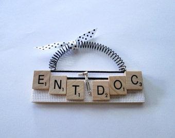 Ear Nose Throat Doctor Scrabble Tile Ornament