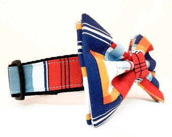 Dog Bow Tie and Collar Combo - Yacht Club