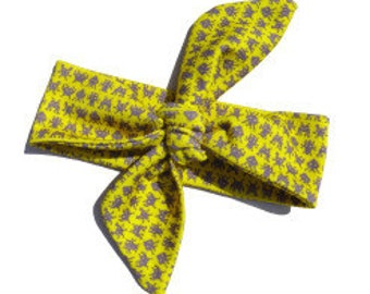 Headband CREATURES yellow | organic cotton
