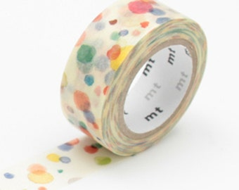 Watercolour dots washi tape - MT for kids 'Ten Ten' - mt masking tape