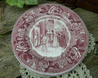 "Wedgwood Courtship of Miles Standish 9 1/4"" Plate - The Longfellow Series"
