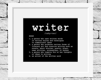 Writer Definition, Writing Teacher, Student Writer, Writing Student, English Student, English Teacher, Writing Quote, Writing Poster