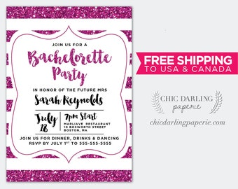 FREE SHIPPING Printed or Digital Bachelorette Invitation | Bachelorette Party Invitation 5x7