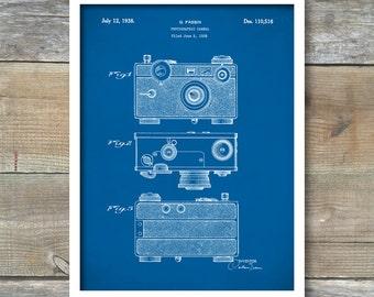 Patent Print, Camera Patent, Camera Poster, Camera Print, Camera Art, Camera Decor, Camera Blueprint, Camera Wall Art P166