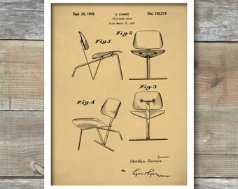 Eames Chair Poster, Eames Chair Patent, Eames Chair Print, Eames Chair Art, Eames Chair Decor, Eames Chair Blueprint P183
