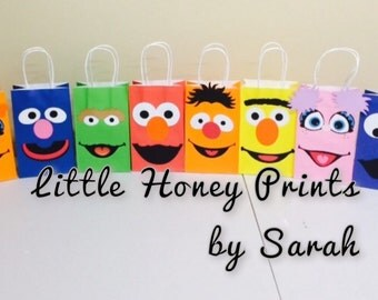 Sesame Street inspired Favor Bags Sesame Street inspired Party/fun party bags