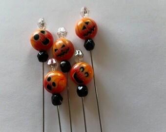 Pumpkin Head Counting Pin