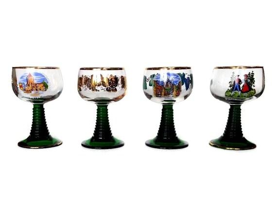 German Hock Wine Glasses