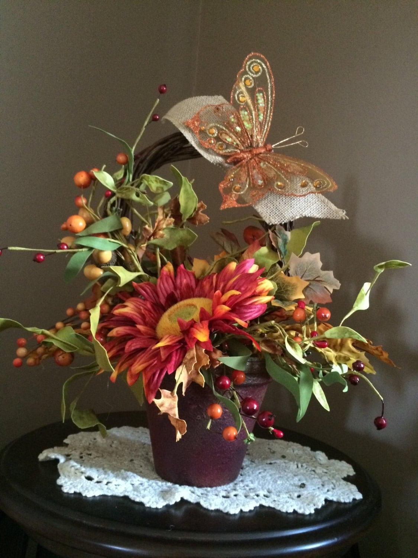 Unique fall centerpiece floral arrangement autumn