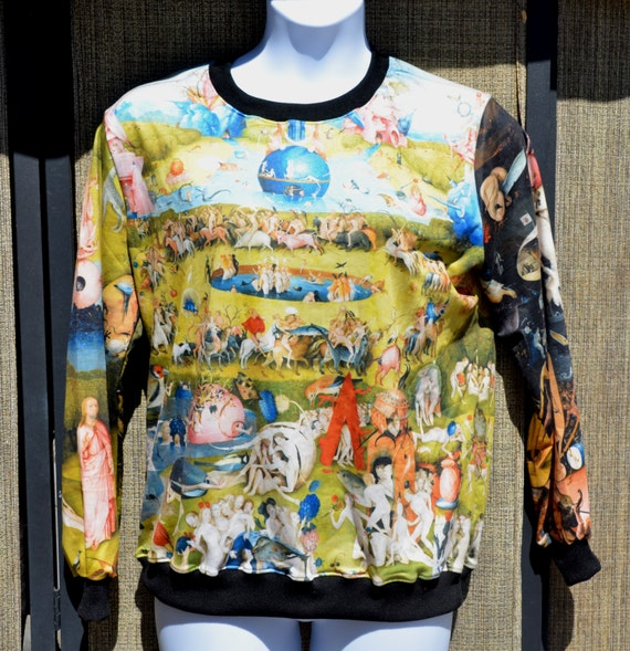Garden of Earthly Delights Sweater Sweatshirt Unisex Fits