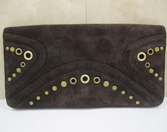 Vintage Banana Republic chocolate brown  Clutch