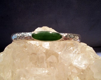 Jade Cuff Bracelet ~Sterling Silver~ Handmade