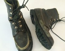 Browning The Sportsman's Boot USA 1970's mod combat military work boots biker rugged hunting riding boots Vietnam era sportsman size 9.5