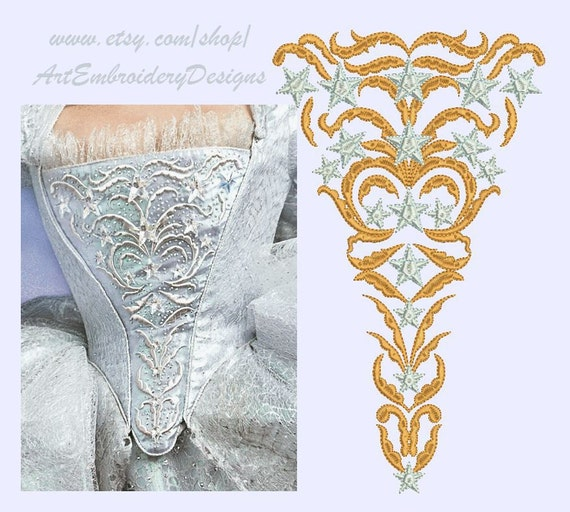 Stomacher - Embroidery Designs Set For 18th Century Costume From ArtEmbroideryDesigns On Etsy Studio