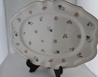 Villeroy and Boch Petite Fleur Serving Platter Oblong platter German China Large Platter Flowered platter medium platter fine china plate