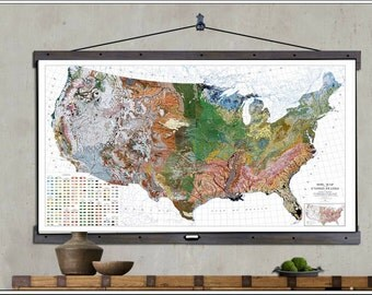 Vintage Map of the USA, North America Map, Old Map, USA Soil Survey Map 1931