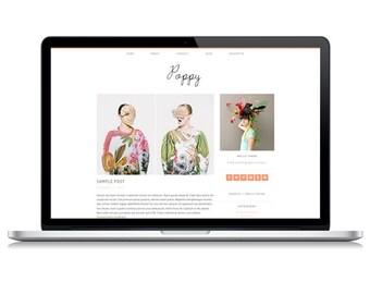 Poppy Responsive Wordpress Theme | Instant Digital Download