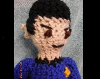 Crocheted Doll Inspired By Spock from Star Trek