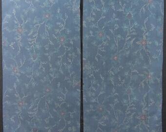 Vintage kimono silk fabric-small plant2197I