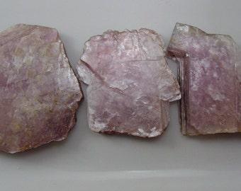 Purple Silver Lepidolite Shard. Brazil.  Undrilled - No Hole! - 3 Shards #3970
