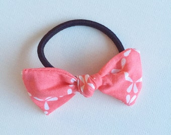 Coral Bow - Hair Tie