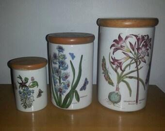 Portmeirion Botanica Canister Set
