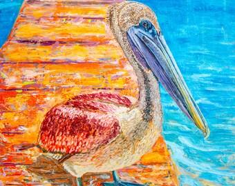 "Pelican Original Oil Painting 30""x40"" on Canvas"