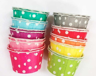 20 Rainbow Candy Cups Nut Cups Ice Cream Cups Cupcake Liners Fruit Cups Portion Cups