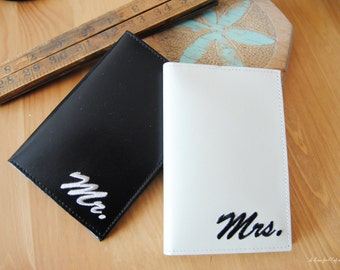 Matching Passport Covers Mr & Mrs