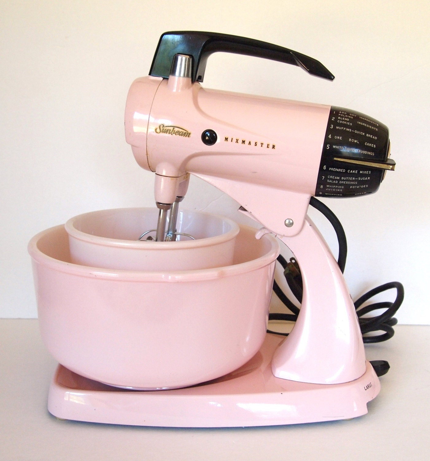 Sunbeam Electric Stand Mixer ~ Vintage pink sunbeam mixmaster electric stand mixer