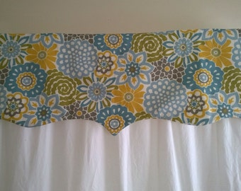 Window Valance Curtains, Kitchen Valance Curtains, Window Valances, Window Topper, Modern Window Valances,Scalloped Valance, Custom Valance