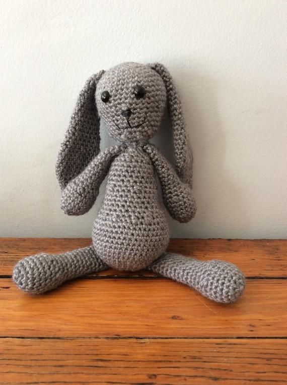 Amigurumi Gray Bunny- Stuffed Animal
