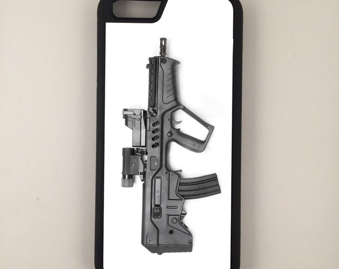 Assault Rifle Gun Rights iPhone Galaxy Note LG HTC Protective Hybrid Rubber Hard Plastic Snap On Case Black