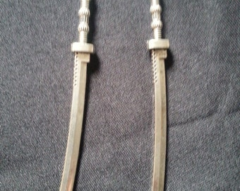 "Sword Earrings, over 4"" long!"