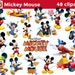 48 Mickey Mouse Cliparts Disney PNG Transparent Background Instant Download