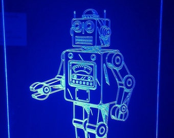 retro robot light up