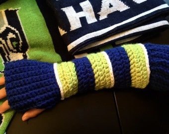Crochet Ribbed Arm Warmers with Thumb holes