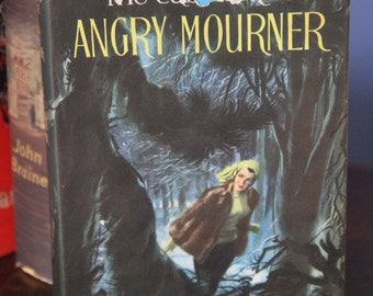 "Vintage  1959 Erle Stanley Gardner's "" The Case of the Angry Mourner "" hard back - a Perry Mason Mystery."