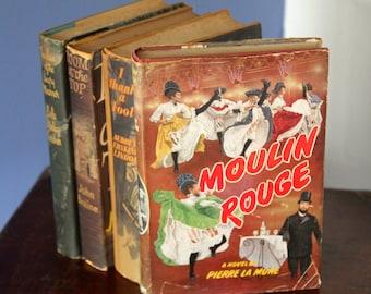 """Vintage 1960's """"Moulin Rouge """" A novel by Pierre La Mure  hardback"""
