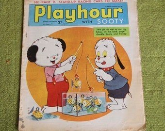 Gorgeous Vintage Sooty Newspaper Comic 27th August 1966