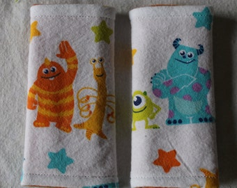Monsters Inc Inspired Infant Car Seat Strap Covers