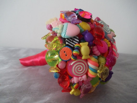 Small Candy Bouquet Wedding Decoration