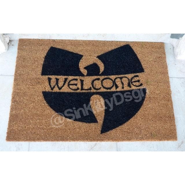 Extra Large Welcome Doormat Wu Tang Inspired Door Mat Hip