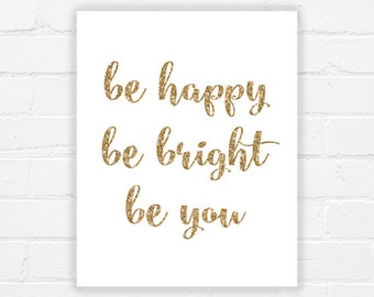 Sparkle quote - printable inspiring quote art - printable quote artwork - inspiring wall art - gold quote prints - INSTANT DOWNLOAD