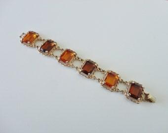 Vintage Sarah Coventry Canada Wild Honey Bracelet
